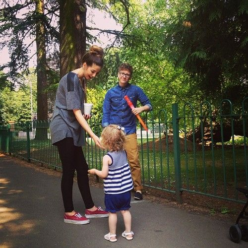 Sprinkle of Glitter (Feeding squirrels with Baby Glitter, @Zoe James Sugg and...) | via Tumblr