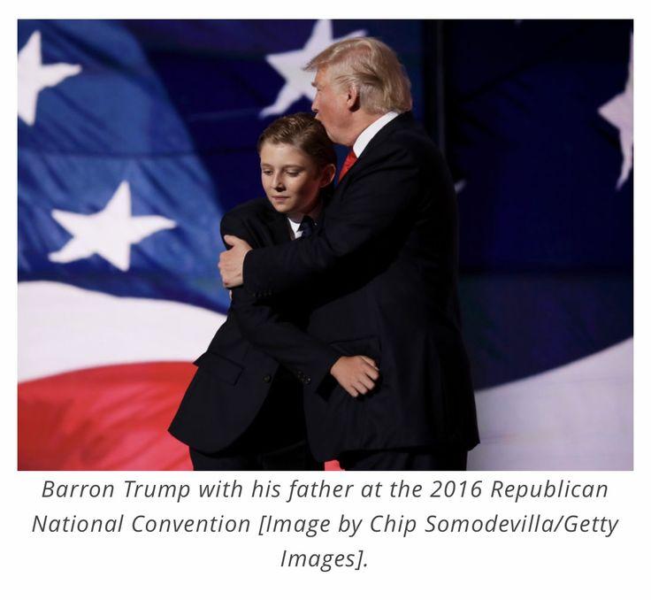 Barron & Donald Trump at the Republican National Convention (2016)