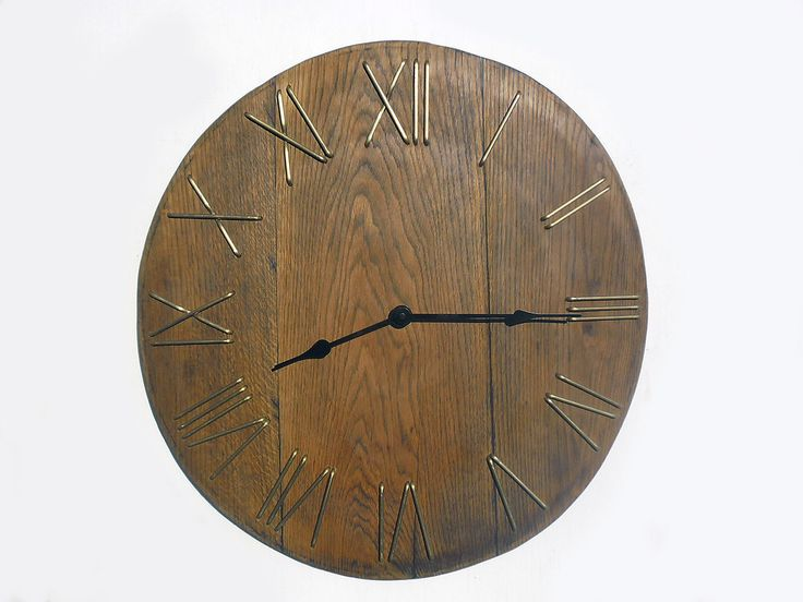 wood clocks wood clock gift rustic wall clock wooden large rustic wall clock unique big wall clock from old wooden wine