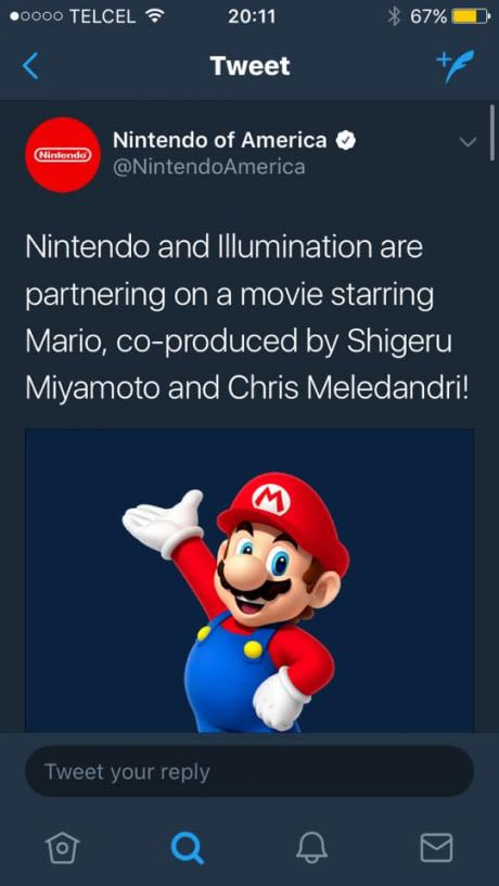 It's official. Nintendo partnered up with Chris Meledandri and Illumination Entertainment- the creators of  Despicable Me - to create a Super Mario Movie.  Lets Hope this one is going to be better than the last one!