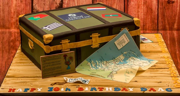 Travelling Trunk cake - Cake by Julie's Cake in a Box