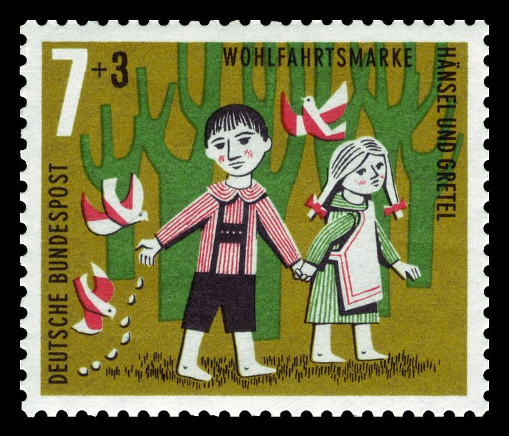 DBP 1961 369 Wohlfahrt Hänsel und Gretel - Hansel et Gretel — Wikipédia
