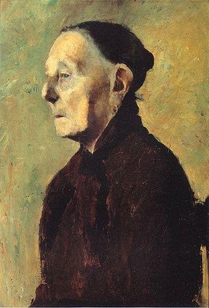 Modersohn-Becker, Paula (1876-1907) - 1897-98 Bust of an Old Woman in Profile