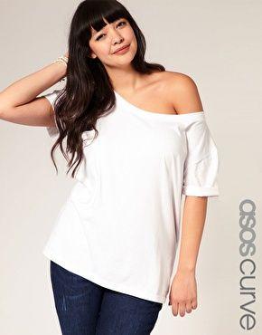 Image 1 - Exclusivité ASOS CURVE - T-shirt épaules dénudées