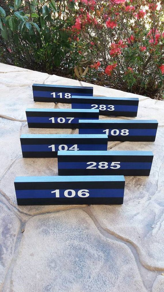 Thin Blue Line Desk Plaque Name Plate. Police by LEOWONDUTY