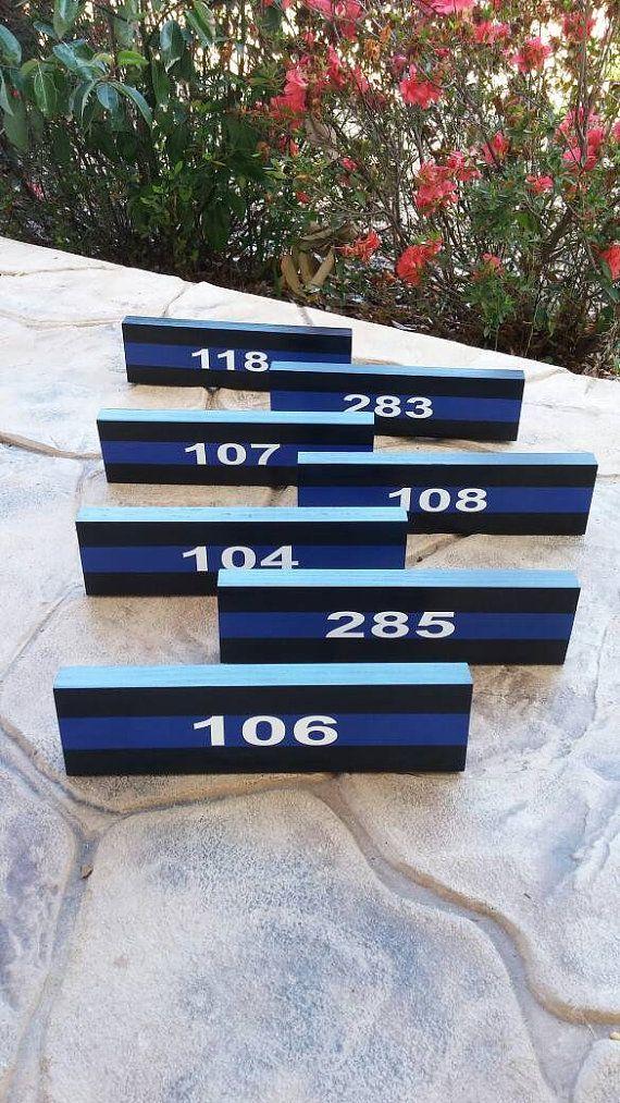 Thin Blue Line Desk Plaque Name Plate. Police by LEOWONDUTY