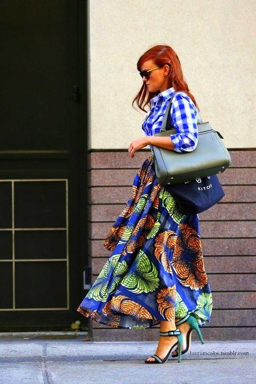 Mixing fabric   Geweldige rok waar je veel stof voor nodig hebt maar die verder (volgens mij) snel in elkaar zit