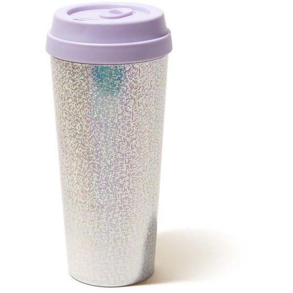 Hollister Ban.Do Hot Stuff Thermal Mug (32 TND) ❤ liked on Polyvore featuring home, kitchen & dining, drinkware, purple, coffee mugs, acrylic drinkware, acrylic mugs, tea mug and coffee tea mugs