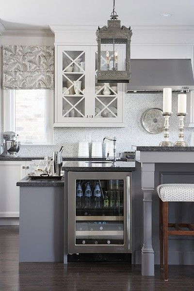 gray and white kitchen Sarah Richardson