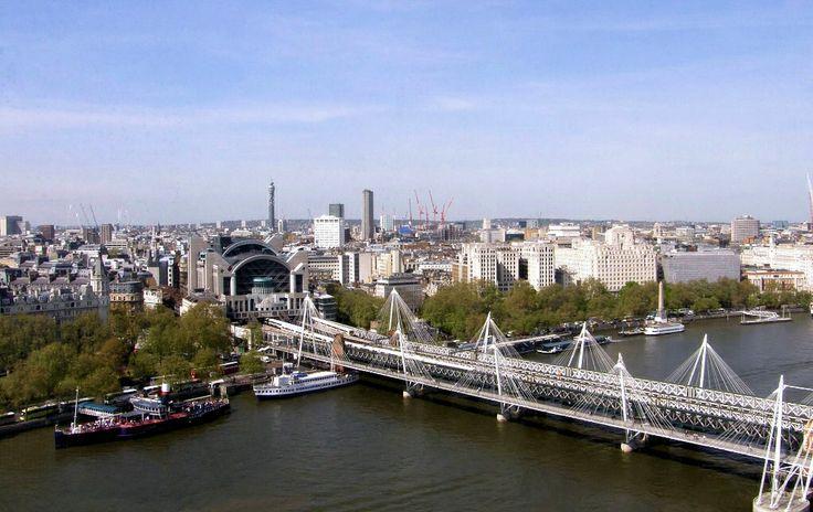 The Hungerford Bridge London United Kingdom
