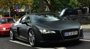 Audi R8 in Matte Black