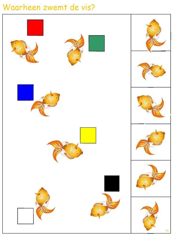 * Waar zwemt de vis heen? 1-2