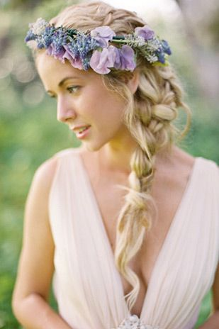 Side braid hair styles | Summer Wedding Hair - Our Top 20 Styles via @onefabday