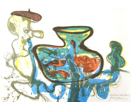 John Olsen Artist and Fishbowl OLSEN IRWIN stockroom. The Gallery represents established artists such as John Olsen, as well as nurturing maturing and emerging artists.