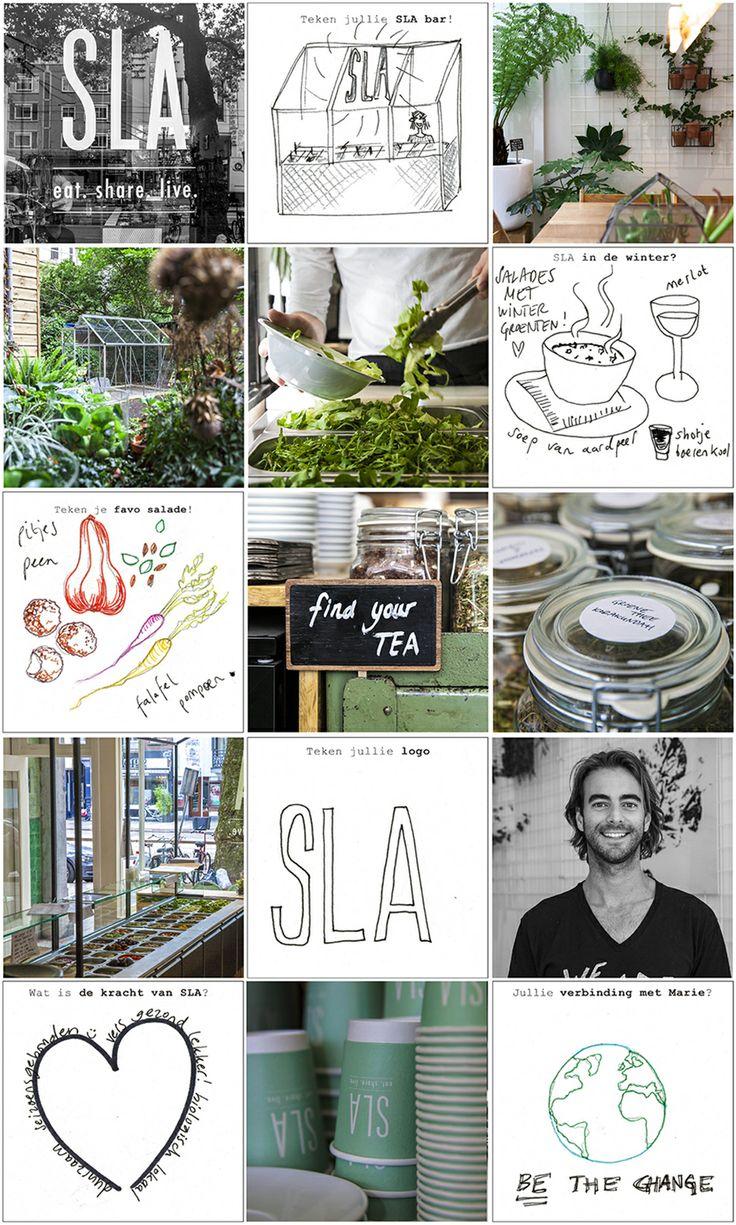 A cool saladbar SLA in Amsterdam - healthy - food - hotspot - green - salad - bio - Ceintuurbaan - ilovesla - juices - fruit - eat, share & live - vegetables - seasonall product