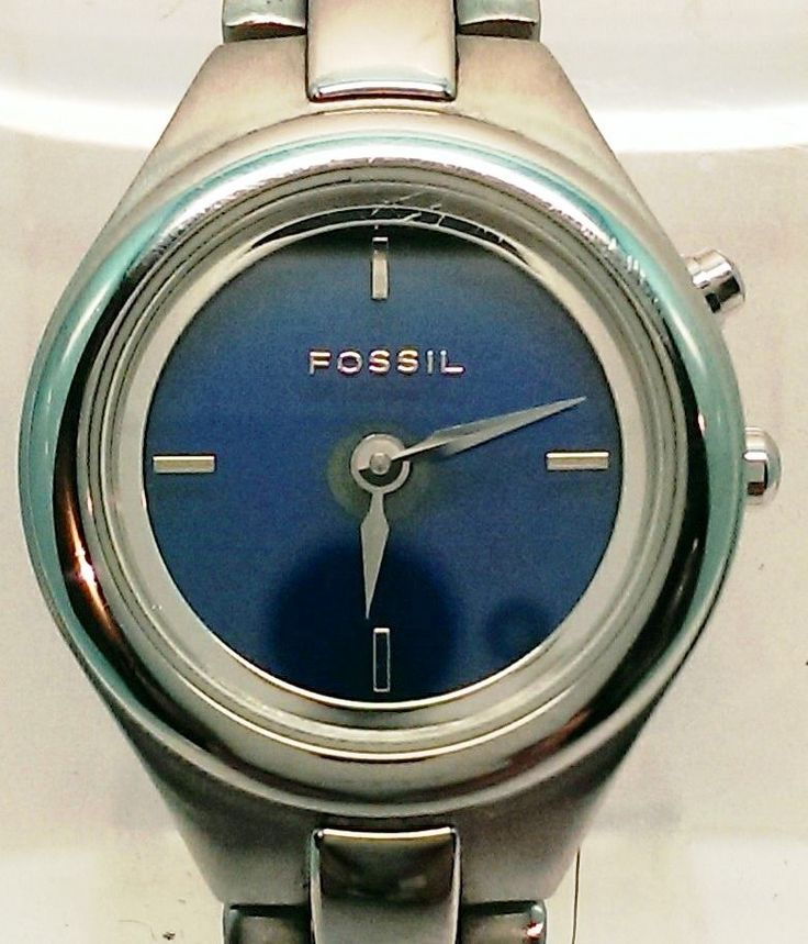Fossil Big Tic ES-9649 Animated Blue / Green Face Watch Stainless Steel Silver $39.00 USD #Fossil #Fashion #Accessories #GiftIdeas