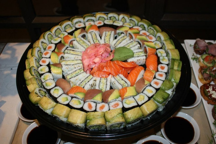 #sushi #platter #food #180degrees #catering