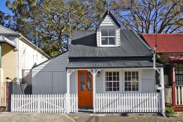56 Foucart Street Rozelle. Kerb appeal. Weatherboard cottage. www.domain.com.au