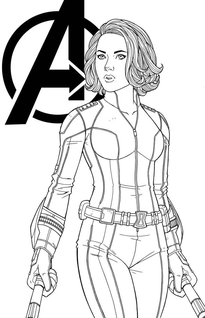 Agent Romanoff By Jamiefayx Marvel Coloring Superhero Coloring Pages Avengers Coloring Pages