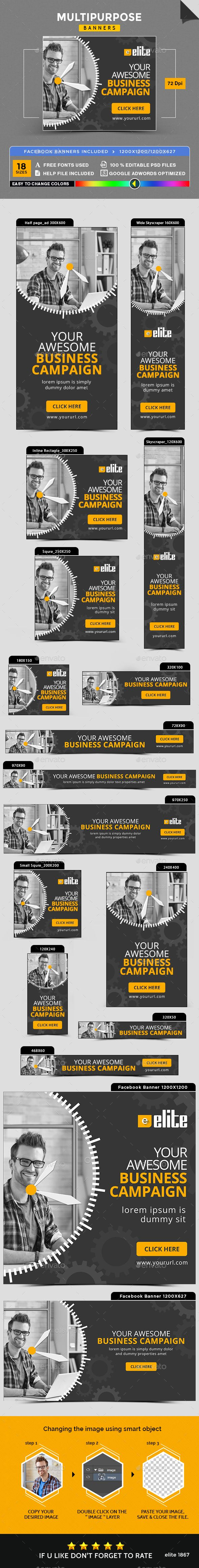 Multipurpose Banners Template PSD