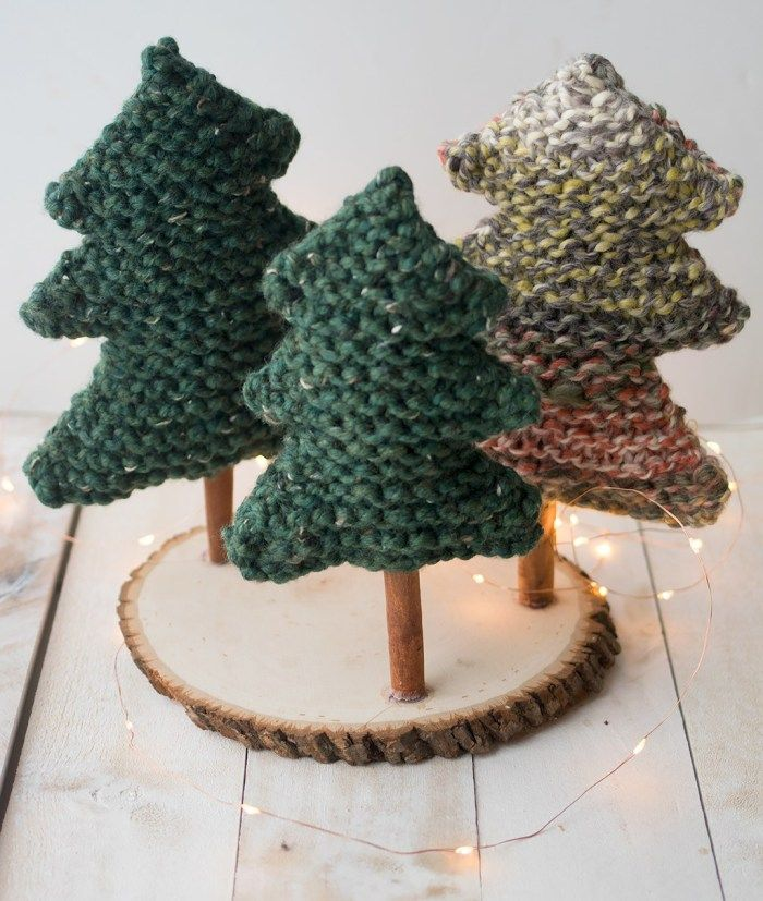 Easy Christmas Tree Knitting Pattern | Christmas tree ...