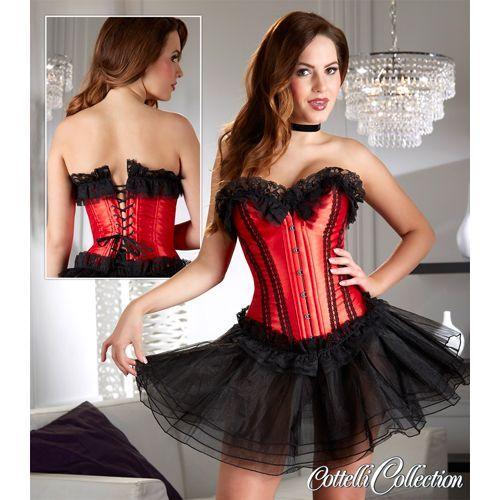 Cottelli Collection Korset rood/zwart