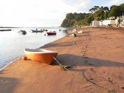 Shaldon Beach in Devon