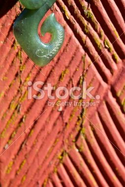 Greenstone (Pounamu) Fish Hook Pendant Royalty Free Stock Photo