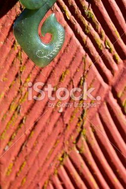 Greenstone (Pounamu) Fish Hook Pendant Royalty Free Stock Photo