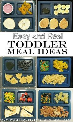 Easy {and real} toddler meal ideas for everyday, busy moms. The best suggestions for breakfast, lunch, dinner, and snacks!
