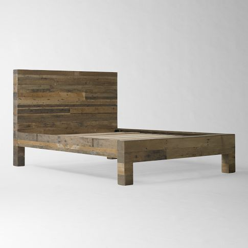 west elm emerson bed could kevin make this for our room made of pine reclaimed wood bed framepallet - Wood Bed Frame Queen
