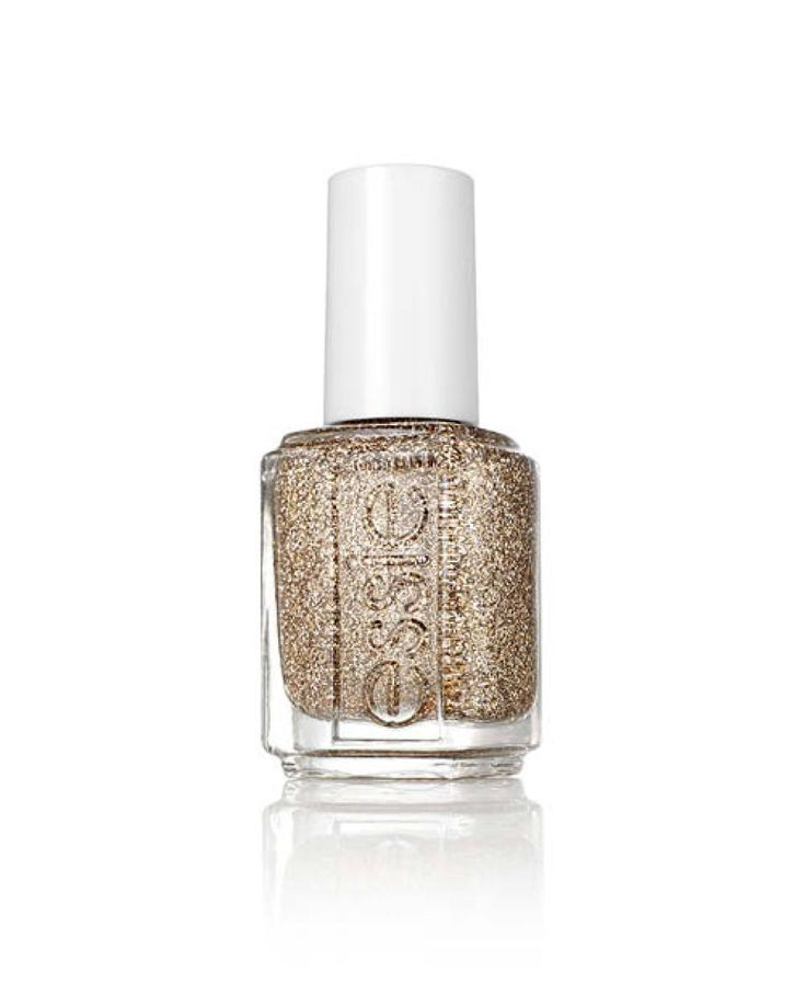 Des paillettes ivoire dans un vernis bronze, Vernis à Ongles Lux Effects, glow your own way, ESSIE. 11,90 euros.     Par Laurence Hovart    Animation : Laurence Hovart & team