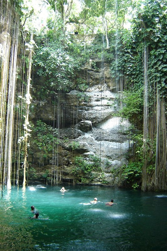 Hidden paradise....somewhere near the Coba ruins in Mexico & I've been here - One of my top 5 best days ever!!