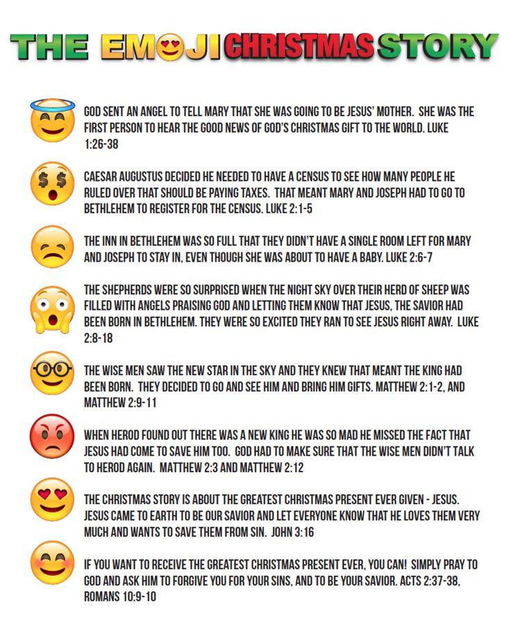 Emoji Christmas Story Printable