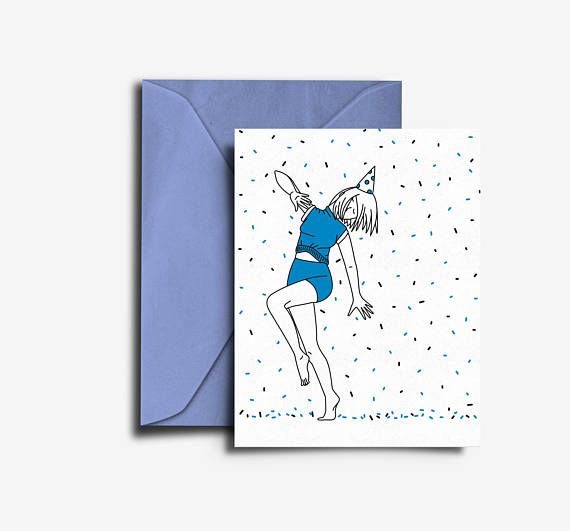 Dance to your own Rythem Card - Instant Download Birthday Greeting Card by Yours Truly Paper Goods. Available now on etsy.