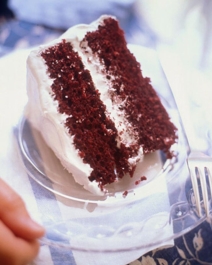 Red Velvet Chocolate Cake | Martha Stewart Living - What could make traditional red velvet cake even better? Chocolate, of course!