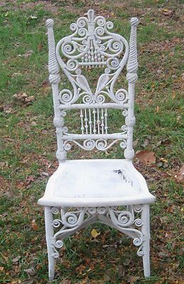 antigue wicker chair rustic chairswhite