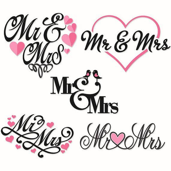 Wedding Bride Mr and Mrs Cuttable Svg Design por CuttableSVG
