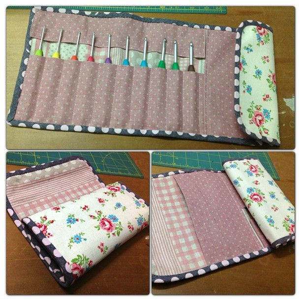 my very first crochet hook case, via Flickr.