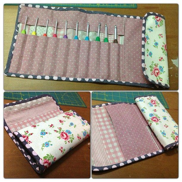 my very first crochet hook case, via Flickr.