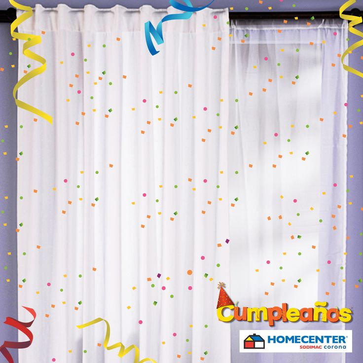 Dale privacidad a tus espacios con la variedad de cortinas que encuentras solo en nuestro #CumpleañosHomecenter