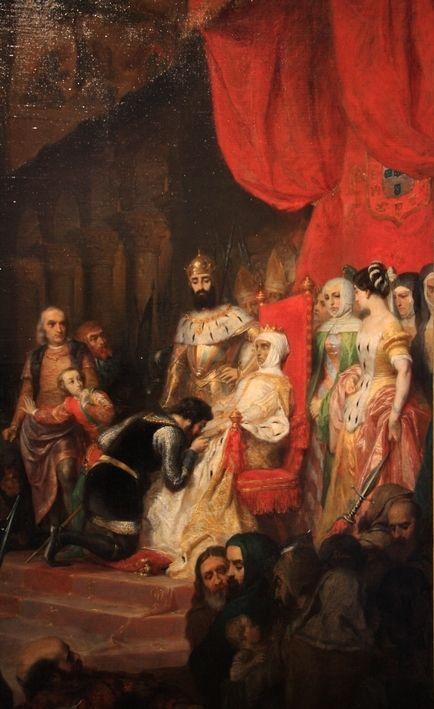 """""""Os Lusíadas"""" Luís Vaz de Camões — Coroação póstuma de Inês de Castro por Pierre-Charles Comte"""