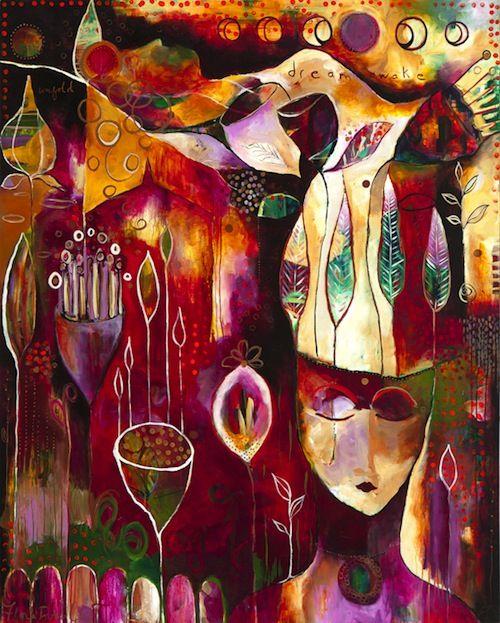 """Dream Awake""  by Flora Bowley, 2011 #florabowley #braveintuitivepainting"