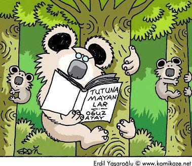 Tutunamayanlar - Oğuz Atay #karikatür #mizah
