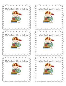 These labels are perfect for the front of your students' unfinished work folders! Keep unfinished documents inside the folder with this label on it.Save downloaded labels to your computer. Using Microsoft Word (version 2008 or better), open a new document.
