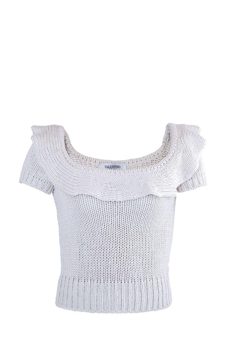 Женский джемпер VALENTINO короткий рукав, цвет купить за 7990 руб. в интернет магазине Intermoda.