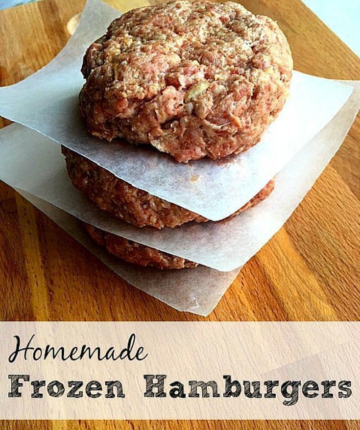 Homemade Frozen Hamburger Patties   Homemade hamburger ...