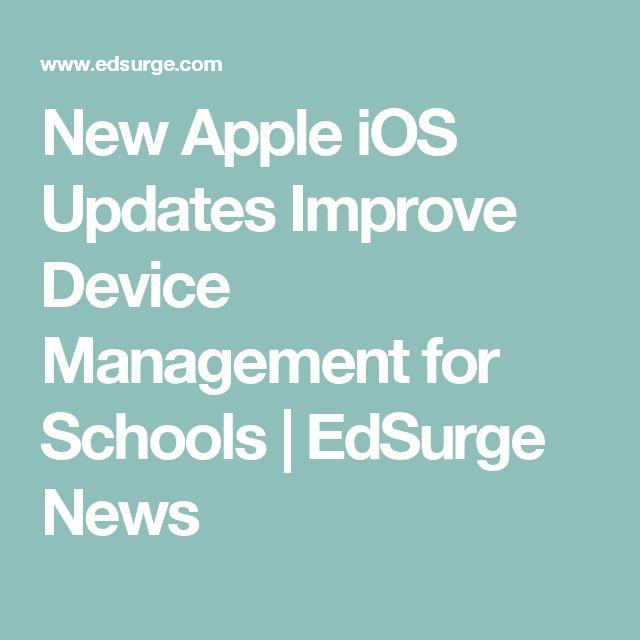 New Apple iOS Updates Improve Device Management for Schools | EdSurge News