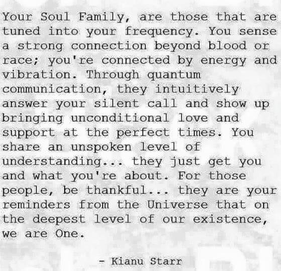 You are my soul tribe, find the others <3