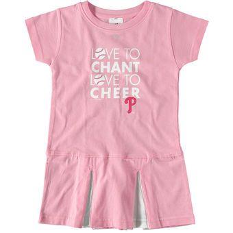 Toddler Philadelphia Phillies Soft as a Grape Pink Cheer Dress